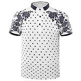 Hannea Floral Print Polo Shirt