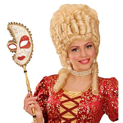 NET TOYS Venezianische Maske Barock Stabmaske Venedig Ballmaske -