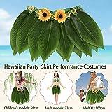 Sue-Supply Simulazione Foglie Gonna Hula Hawaiian Party Hula Gonna Adulti Bambini Altalene Gonne Gonne Performance Costumi per Feste