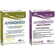 Bioserum - Pack Ansiomed Mente Positiva 45 Cápsulas + Ansiomed 45 Cápsulas - Regula de forma