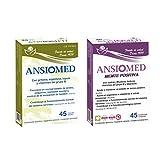 Bioserum - Pack Ansiomed Mente Positiva 45 Cápsulas + Ansiomed 45 Cápsulas - Regula de forma natural tu estado de animo y sistema nervioso