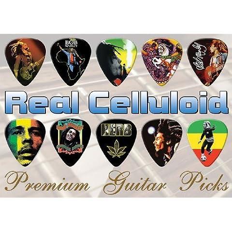 Bob Marley Premium Chitarra Pick Plettro Plettri X 10 (C)