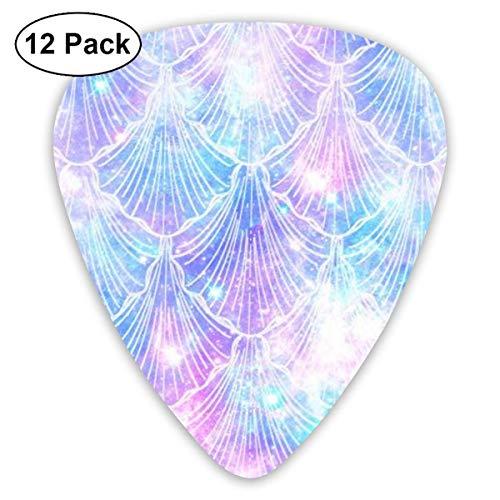 Aquarell Glitter Meerjungfrau Prinzessin 351 form klassische celluloid plektrum für elektrische akustische mandoline bass 0,46mm 0,73mm 0,96mm (12 count) -