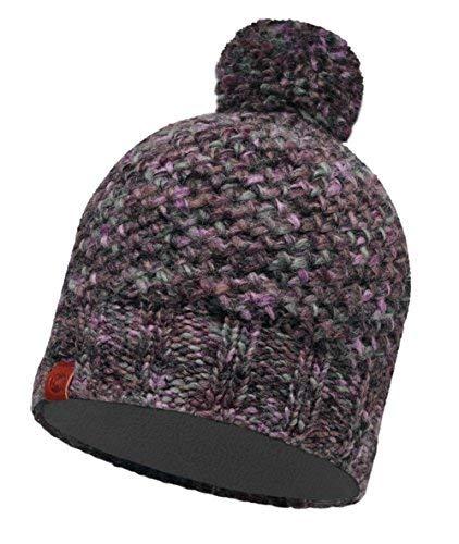 Buff Mütze + Ultrapower Schlauchtuch | Wintermütze | Kopfbedeckung | Strickmütze | Slouch-Mütze | Polartec Fleece | Knitted & Polar Hat Margo Plum -
