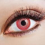 aricona Farblinsen rote Kontaktlinsen zum Halloween Kostüm Clown Faschingskostüme
