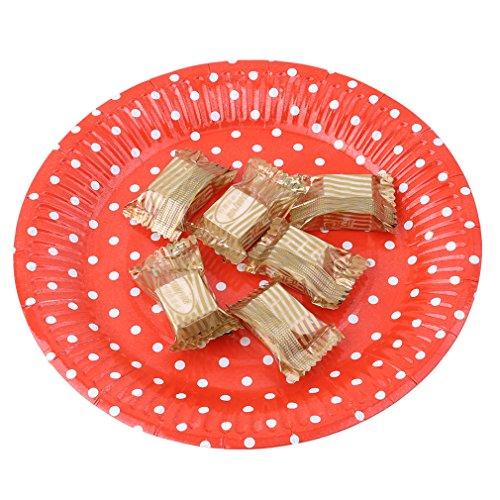 51IvXIIF%2BSL - yinew Pappteller 17,8cm Party Teller Langlebig Teller Pappteller 10PCS Party Teller für Geburtstag, Party, Hochzeit, Papier, rot, Siehe Produktbeschreibung
