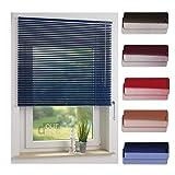 ourdeco® Aluminium-Jalousie / 160 x 160 Dunkelblau (Breite x Höhe) / Montage an Wand oder Decke, Premium Alu-Jalousie