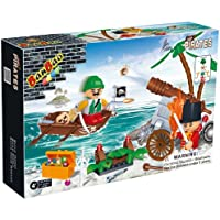 Price comparsion for BanBao Building Blocks Bricks Construction Pirate Invader - Number 1 Toys & Games Create Your Own Child Children Boys Boy Kids - Great Idea for Fun Easter, Birthday Xmas, Christmas, Stocking Filler Present Gift or Reward or Pocket Money Treat - One Suppli