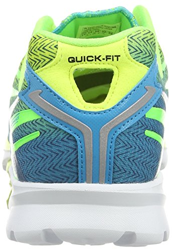 Skechers - Go Run 4, Scarpe da corsa Uomo Verde (Green (Lime/Blue))