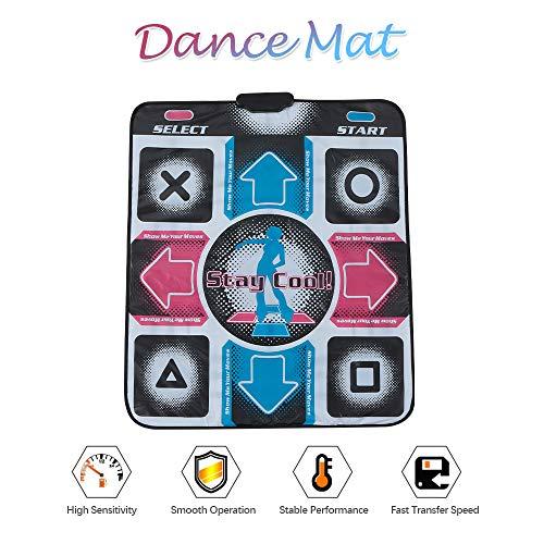 Leepesx Tanzmatte Tanzen Step Pad Spielmatte Tägliches Training rutschfeste Tanzdecke Universal USB-Stecker für PC -