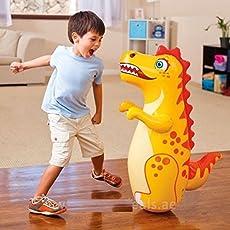 Punching Bag 3D BOP Dinosaur 3x2ft (Intex) color may vary
