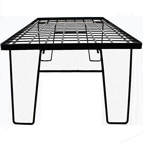 ZRK Outdoor Falten Netz Kleinfall Kleiner Stahl Kleiner Campingtisch Black-Barbecue Portable Inkubator Bracket Table-Easy zu montieren Portable Style für den Heimgebrauch
