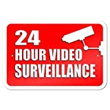 "Graphics and More 22,9 x 15,2 cm ""24 Stunde Video Surveillance"" Metall Schild"