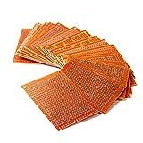 HiLetgo® 20pcs 5 * 7CM 94HB cartes de prototypage bakélite à souder finition prototype carte PCB Conseil 5X7 CM bricolage prototype carte de circuit imprimé trou de trou espace 2.54mm