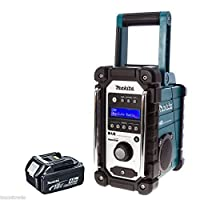 Makita DMR104 Job Site Radio with DAB Blue + 1 x BL1840 4.0Ah Battery