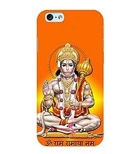 FUSON Hindu Lod Hanuman Ramjap 3D Hard Polycarbonate Designer Back Case Cover for Apple iPhone 6 Plus :: Apple iPhone 6+