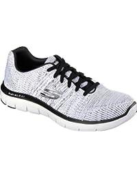 Skechers Men's Flex Advantage 2.0 Missing Link Sneaker,White/Black,US 11 W