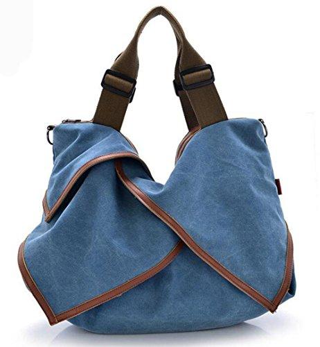 CHAOYANG-Borsa in pelle borse di tela portatile diagonale multiuso borse big bag , blue Blue