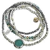 THE MOSHI Isabella Kombischmuck Armband/Halskette Grau Mix