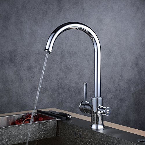 "Beelee BL3335 14"" Elegant Round 3 Way Kitchen Faucet for Reverse Osmosis System Chrome Lead Free"