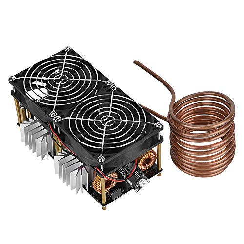 Riuty ZVS Induction Heating Board Module, DIY 1800W High Frequency Tesla Coil 40A Low Voltage Flyback Driver Heater