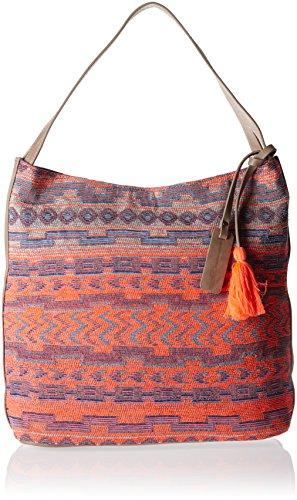 Tom Tailor Denim Damen Carolyn Handtasche, Mehrfarbig (Multi), 11.5x31x35 cm (Handtasche Jacquard Hobo)