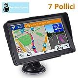 GPS Navigatore Satellitare Auto parasole, Precaricato Mappa Europa, Assistente Corsia...