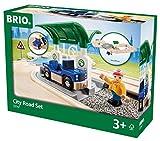 BRIO World 33747 - BRIO World Straßen Set mit Kreisverkehr, Transport Verkehr