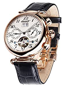 ingersoll damen armbanduhr walldorf ii chronograph automatik leder in1319rsl uhren. Black Bedroom Furniture Sets. Home Design Ideas