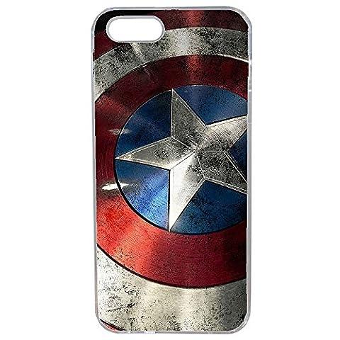 Aux Prix Canons - Etui housse coque Marvel Comics Avengers Captain America IPhone 7 plus / 7S plus