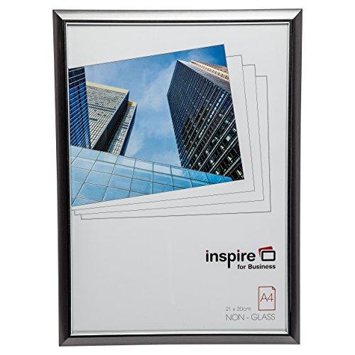 Hampton Frames EasyLoader fumée Gris a4 21x30 cm Certificat Photo Cadre sécurité plexi Verre Photo Ouverture easa4smk