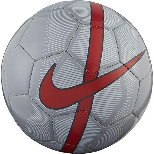 Nike Mercurial Fade Fußball, Wolf Grey/Pure Platinum/Bright Crimson, 5