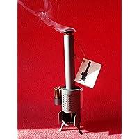 Estufa vintage quemador de incienso (altura 27 cm). Ambientador decorativo.