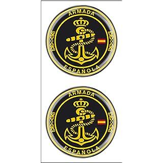 Artimagen Aufkleber Kreis Armada Spanien 2 Stück Harz Ø 33 mm