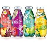Firefly Botanical Vegan Mixed Case Fruit Drink 330ml (12 Pack) - Lemon, Lime & Ginger, Pomegranate & Elderflower, Kiwi, Lime & Mint & Peach & Green Tea