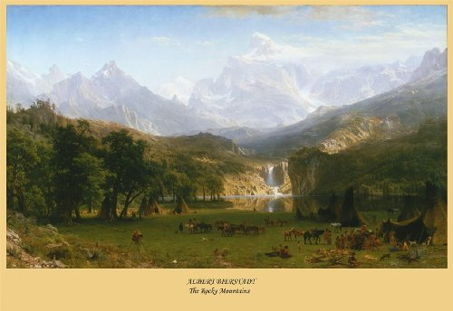 Albert Bierstadt The Rocky Mountains Lander S Peak, C1883 poster riproduzione