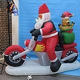 Gonfiabile Di Babbo Natale Guida Una Moto Snowman Styling Ornamento Tessuto Della Decorazione Di Natale Court Hotel Centro Commerciale Porta Decorazione Puntelli -1 M - 1.8 M A