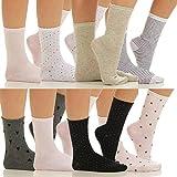 8er Pack Damensocken Mixed Baumwoll Stümpfe Sneaker Füßlinge CL 10