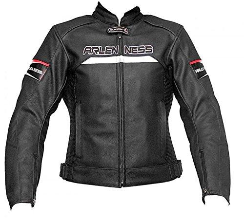 Jacke Leder Motorrad-Marke Arlen Ness Größe M Farbe schwarz lj-9140l-an NEU