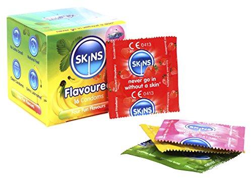 Condones de sabor de Skins