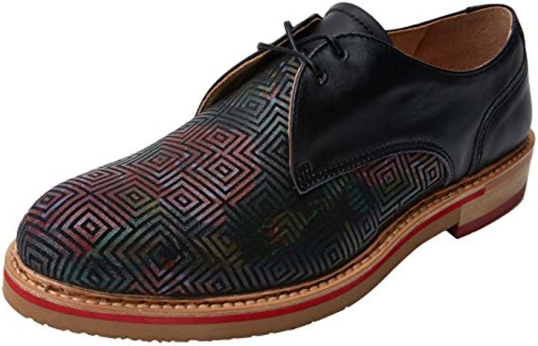 Neosens S924 Fantasy Geo Floral Black/Albilla, Zapatos de Cordones Oxford para Mujer