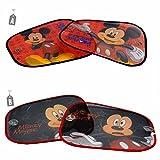 """Tendine parasole per auto Mickey con ventose. Confezione contenente due pezzi. Dimensioni: cm. 44x35. Disponibile in due modelli: A-Sfondo Rosso B-Sfondo Nero Per scegliere il modello da comprare, scriverlo all'interno del campo """"note"""" del ca..."""