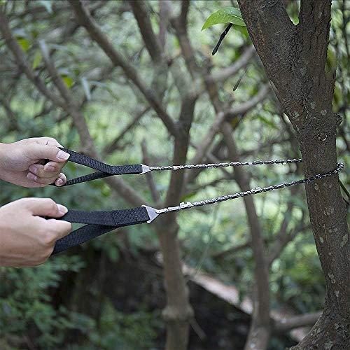 Amasawa Motosega a Mano, Pocket Chainsaw Hand Chain Saw Sega a Mano con Sacchetto di Trasporto per Gli Attrezzi da Campeggio,Il Giardinaggio e Le Emergenze (24 Pollici) - 9