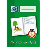 Oxford 100050105 School Learning to Write Notebook, A5, Lineature 0 (First Class) with Coloured Middle Strip A4, 16 Blatt
