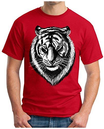 OM3 - LION-HEAD - T-Shirt GEEK, S - 5XL Rot