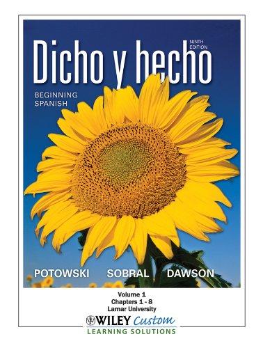 Amazon. Com: dicho y hecho: beginning spanish (spanish edition.