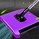 National style carpet BürsteKleaner ☞Sweeper Teppich Maschine Weiß Hand Push Teppichkehrer Drehbare Edelstahl Waschmaschine (Farbe : Purple)