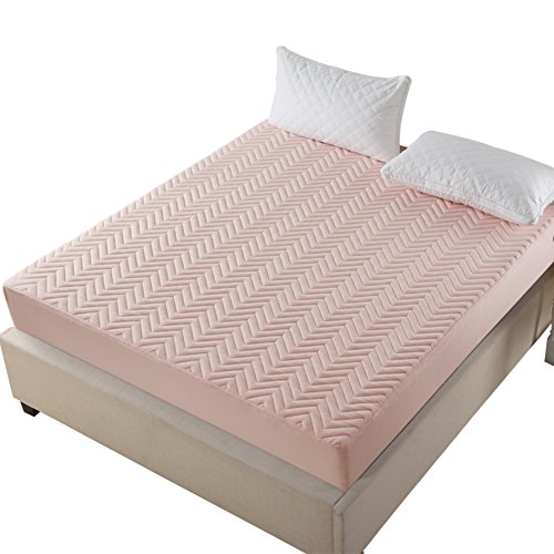 FHFGHYURBNYFGHFBY Abdeckung ausgestattet/Bett Sleeve Antiskid/gepolsterte Baumwoll-tagesdecke/Think matratze schutzhülle-A 180x200cm(71x79inch) (Tagesdecke Ausgestattet)