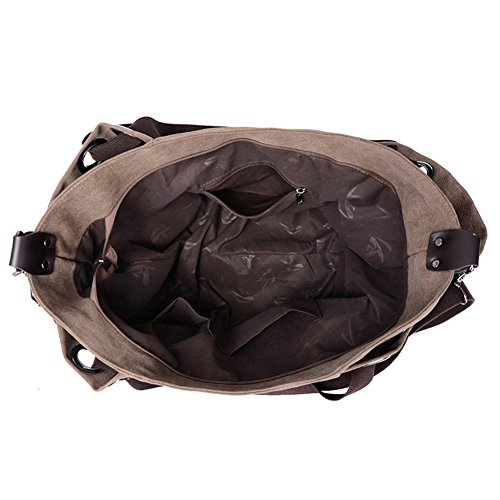 Ladies singola borsa a tracolla,borsa di tela,messenger bag/borsetta-marrone marrone