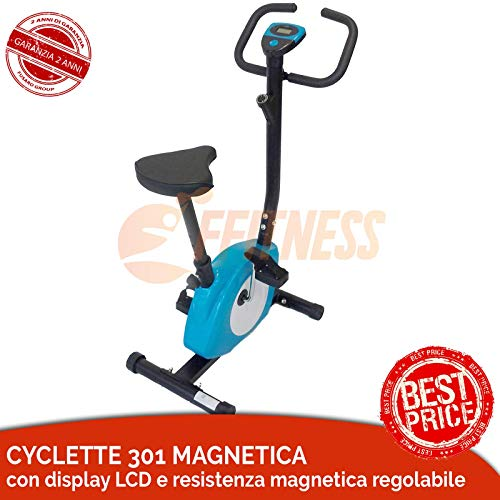 Offerta cyclette magnetica 301 rossa ffitness home trainer bici da fitness bici da camera home bike home fitness salvaspazio training dimagrire casa glutei cosce grasso pancia allenamento in casa
